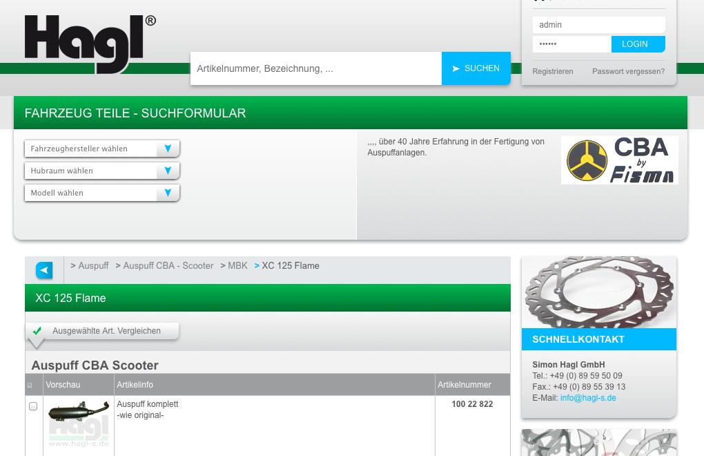 Hagl neue Website Screenshot